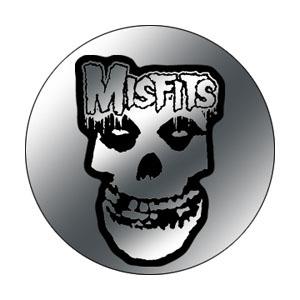 Misfits- Chrome Skull & Logo pin (pinX260)