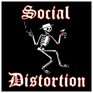 Social Distortion- Skeleton square pin (pinX233)