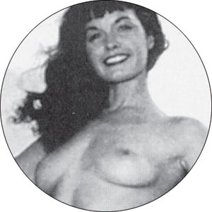 Bettie Page- Topless pin (pinX143)