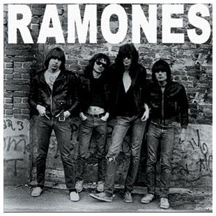 Ramones- First Album Cover square pin (pinX258)
