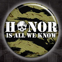 Rancid- Honor Is All We Know (Camo) pin (pinX74)