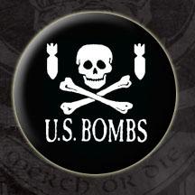US Bombs- Skull & Bombs pin (pinX88)