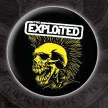 Exploited- Yellow Skull pin (pinX32)