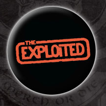 Exploited- Red Logo pin (pinX31) (Sale price!)
