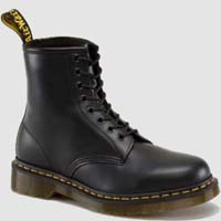 8 Eye Black Smooth Dr. Martens Boots