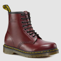 8 Eye Cherry Smooth Dr. Martens Boot