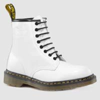 8 Eye White Smooth Boot by Dr. Martens