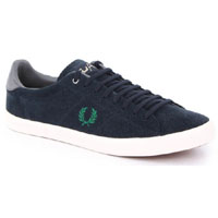 Howells Suede Sneaker by Fred Perry- Navy/Privet (Sale price!)