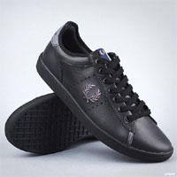 Westcliff Leather Sneaker by Fred Perry- Black/Cloudburst (Sale price!)