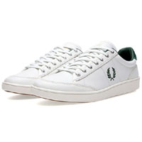 Hopman Leather Sneaker by Fred Perry- Porcelin/Tartan Green (Sale price!)