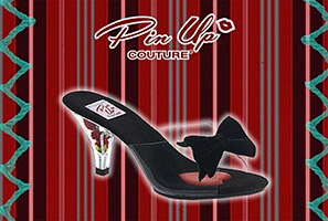 Belle Bow Platform Slide by Pin Up Couture / Demonia