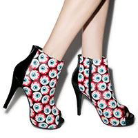Peeping Tom Bloody Eyeball Platform Bootie by Iron Fist - SALEsz 5 & 10 only