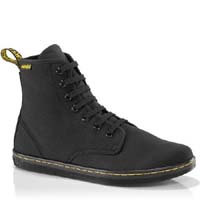7 Eye Black Canvas Shoreditch Girls Boot by Dr. Martens