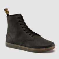 Tobias 8 Eye Split Greasy (Suede) Dr. Martens Boots- Black
