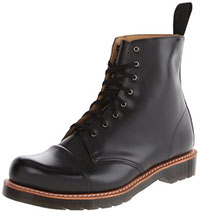 Charlton 8 Eye Black Polished Smooth Dr. Martens Boots (Sale price!)