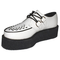 White Leather Mondo Sole Creeper by Tred Air UK (Sale price!)