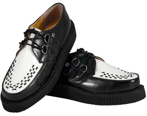 Black And White Leather Lo Sole Viva Creeper by Tred Air UK (Sale price!)
