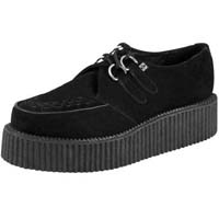 Black Suede Mondo Sole Viva Creeper by Tred Air UK (Sale price!)