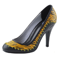 "Luv N Lux Girls Heel by Tred Air UK- Black Tiger With ""Caveman"" Stitching (Sale price!)"