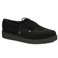 Black Suede Pointed Lo Sole Creeper by Tred Air UK (Sale price!)