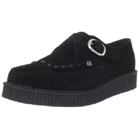 Black Suede Pointed Lo Sole Monk Creeper by Tred Air UK (Sale price!)