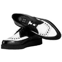 Black & White Leather Pointed Lo Sole Creeper by Tred Air UK