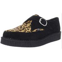 Black Suede And Leopard Lo Sole Monk Creeper by Tred Air UK (Sale price!)