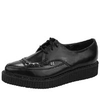 Black Leather Pointed Lo Sole Creeper by Tred Air UK (Sale price!)