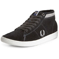 Craddock Suede Hi Top Sneaker in BLACK by Fred Perry (Sale price!)