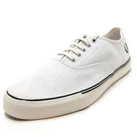 Clarence Pique Canvas Sneaker in WHITE by Fred Perry (Sale price!)