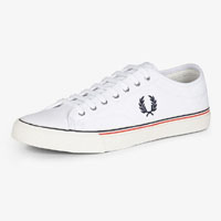 Kendrick Canvas Sneaker by Fred Perry- WHITE (Sale price!)