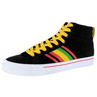 Duane Peters Clasher Hi Sneaker in BLACK/RASTA - SALE Men's sz  7.5 / Girls sz 9.5 only