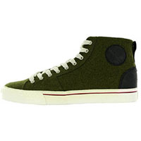 Duane Peters Broadway Hi Top Sneaker in OLIVE WOOL - SALE only
