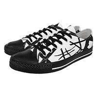 Van Halen- EVH Lo Top Canvas Sneakers in BLACK/WHITE (Sale price!)