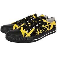 Van Halen- EVH Lo Top Canvas Sneakers in BLACK/YELLOW (Sale price!)