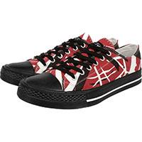Van Halen- EVH Lo Top Canvas Sneakers in BLACK/RED