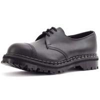 3 Eye Steel Toe Shoe in BLACK by Gripfast (Made In England!)