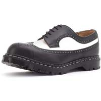 5 Eye Brogue in BLACK & WHITE by Gripfast (Made In England!)