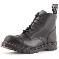 6 Eye Steel Toe Boot in BLACK by Gripfast (Made In England!)