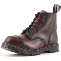 6 Eye Steel Toe Boot in BURGUNDY RUB OFF by Gripfast (Made In England!)