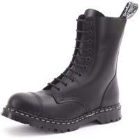 10 Eye Steel Toe Boot in BLACK by Gripfast (Made In England!)