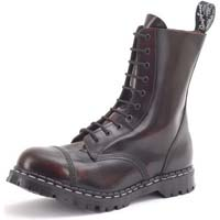 10 Eye Steel Toe Boot in BURGUNDY RUB OFF by Gripfast (Made In England!)