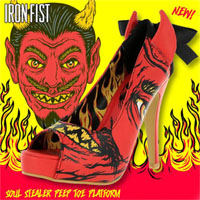 Soul Stealer Peep Toe Platform by Iron Fist - SALE sz 5 only