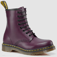 8 Eye Purple Smooth Dr Martens Boots (Womens)