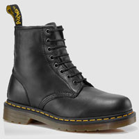 8 Eye Black Nappa Dr. Martens Boots