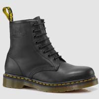 8 Eye Black Greasy Dr. Martens Boots