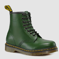 8 Eye Green Smooth Boot by Dr. Martens