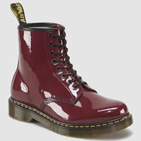 8 Eye Cherry Red Patent Lamper Boots by Dr. Martens (Sale price!)