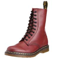 10 Eye Cherry Smooth Dr. Martens Boot