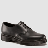 3 Eye Black Smooth Mono Gibson by Dr. Martens